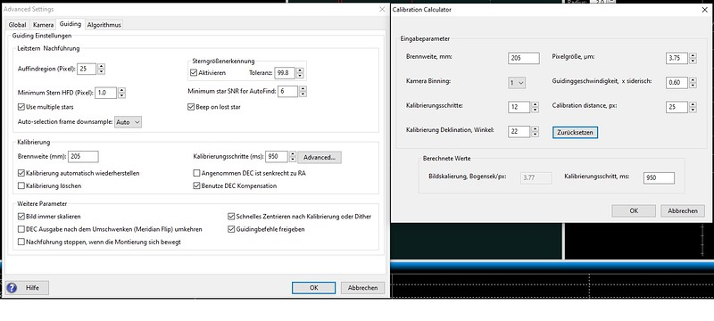 3_PHD2 Guiding Konfiguration