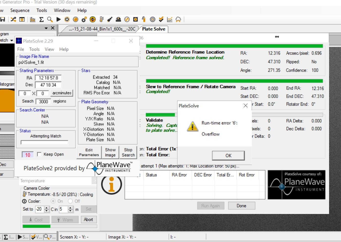 PlateSolve2 gives an error