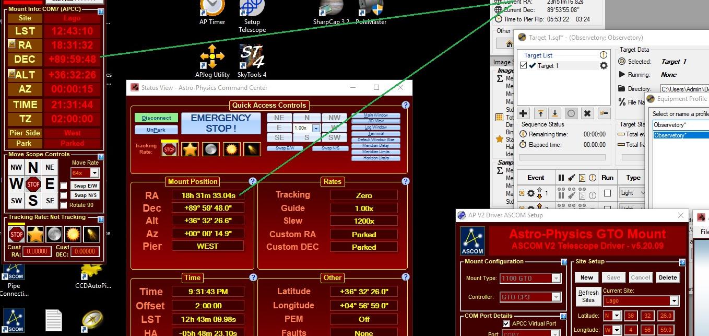 Mismatch SGP and AP mount DEC & RA - Sequence Generator