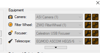 Celestron Focus Motor Steps - Auto Focus - Main Sequence Software