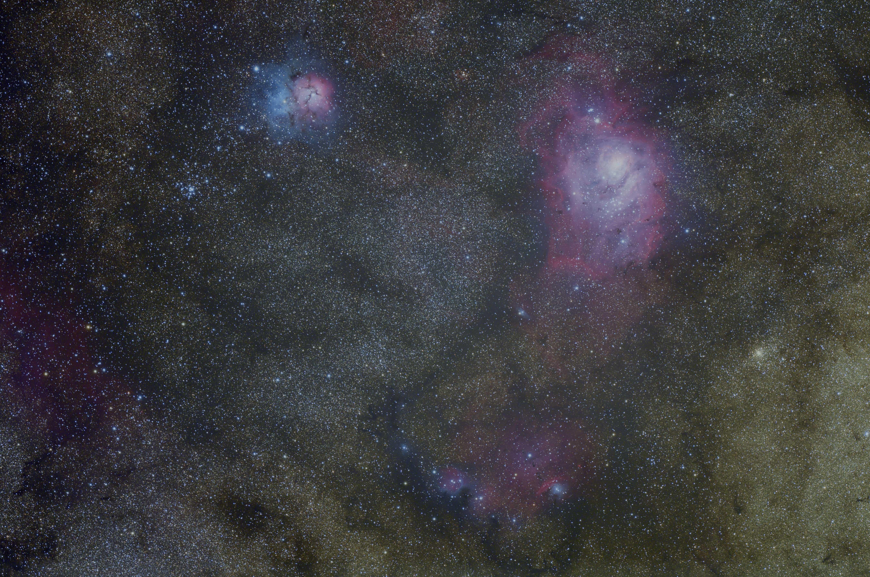 trifid and lagoon nebula - photo #8